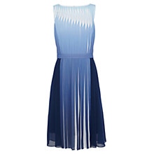 Buy Karen Millen Dip Dye Pleat Dress, Multi Blue Online at johnlewis.com
