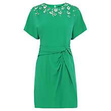 Buy Karen Millen Hand Embellished Kimono Sleeve Dress, Green Online at johnlewis.com