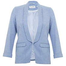 Buy Miss Selfridge Ponte Jacket, Denim Online at johnlewis.com