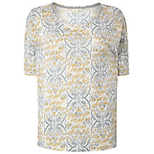 Buy White Stuff Linen Ailsa T-Shirt, White Online at johnlewis.com