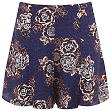 Buy Miss Selfridge Petite Floral Skort, Navy Online at johnlewis.com