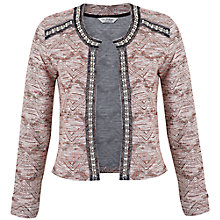 Buy Miss Selfridge Embellished Jacket, Pink Online at johnlewis.com