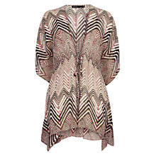 Buy Karen Millen Zig Zag Silk Print Kaftan, Multi Online at johnlewis.com