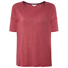 Buy White Stuff Linen Plain T-Shirt Online at johnlewis.com