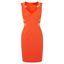Buy Karen Millen Stretch Ottoman Shift Dress, Orange Online at johnlewis.com