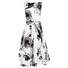 Buy Coast Rebecca Print Dress, White/Black Online at johnlewis.com