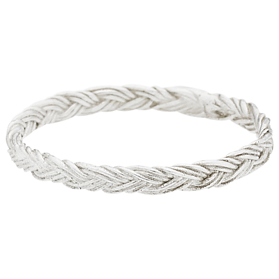 Estella Bartlett Vintage Plait Sterling Silver Ring, Silver