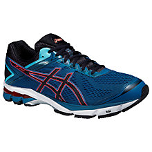 Buy Asics GT-1000 4 Men's Structured Running Shoes, Blue/Black Online at johnlewis.com
