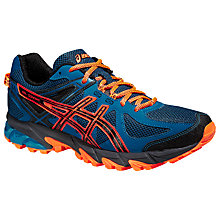 Buy Asics Gel-Sonoma Men's Running Shoes, Blue/Orange Online at johnlewis.com
