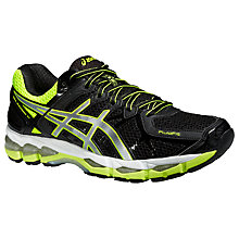 Buy Asics Gel-Kayano 21 Men's Structured Running Shoes, Black/Silver Online at johnlewis.com