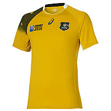 Buy Asics Australia Rugby World Cup 2015 Home Rugby Shirt, Gold/Green Online at johnlewis.com