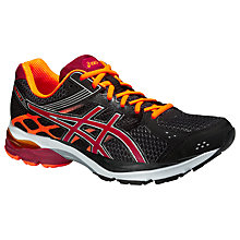 Buy Asics Gel-Pulse 7 Men's Cushioning Running Shoes, Black/Deep Ruby Online at johnlewis.com