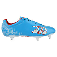 Buy Canterbury of New Zealand Speed Club 6 Stud Rugby Boots, Blue Online at johnlewis.com