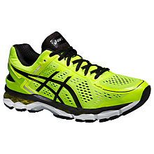 Buy Asics GEL-Kayano 22 Men's Structured Running Shoes, Flash Yellow/Black Online at johnlewis.com