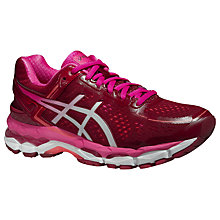 Buy Asics GEL-Kayano 22 Women's Structured Running Shoes, Deep Ruby Online at johnlewis.com