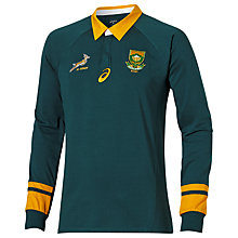 Buy Asics South Africa Springboks Fan Long Sleeve Rugby Shirt, Green/Gold Online at johnlewis.com