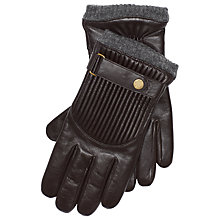 Buy Polo Ralph Lauren Quilted Leather Racing Gloves, Brown Online at johnlewis.com