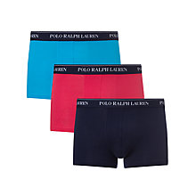 Buy Polo Ralph Lauren Cotton Trunks, Pack of 3 Online at johnlewis.com