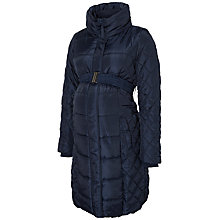 Buy Mamalicious Becca Padded Quilt Maternity Coat, Navy Online at johnlewis.com