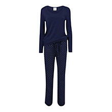 Buy Mamalicious Thilde Long Sleeve Dot Maternity Nursing Pyjamas, Black Iris Online at johnlewis.com