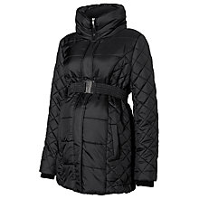 Buy Mamalicious Becca Padded Quilt Maternity Jacket, Black Online at johnlewis.com