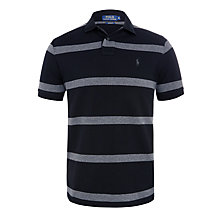 Buy Polo Ralph Lauren Custom Fit Polo Shirt, Black Online at johnlewis.com