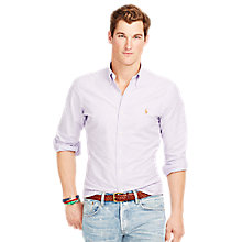 Buy Polo Ralph Lauren Slim Fit Shirt, Royal Purple Online at johnlewis.com