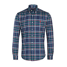 Buy Polo Ralph Lauren Plaid Cotton Oxford Shirt, Navy/Hunter Online at johnlewis.com