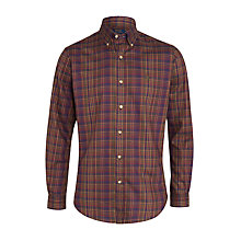 Buy Polo Ralph Lauren Slim Fit Button Collar Check Shirt, Hunter Green Online at johnlewis.com