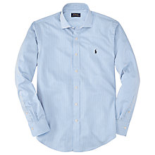 Buy Polo Ralph Lauren Regent Striped Cotton Shirt, Yale Blue Online at johnlewis.com