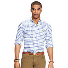 Buy Polo Ralph Lauren Tattersall Oxford Sport Shirt Online at johnlewis.com