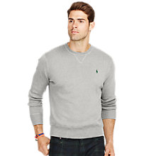 Buy Polo Ralph Lauren Cotton Knit Sweatshirt, Fawn Grey Heather Online at johnlewis.com