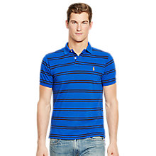 Buy Polo Ralph Lauren Stripe Polo Shirt, Dark Vintage Heather Online at johnlewis.com