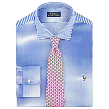Buy Polo Ralph Lauren Pin Point Collar Stripe Shirt, Medium Powder Blue Online at johnlewis.com