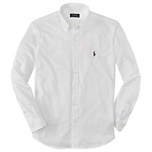 Buy Polo Ralph Lauren Oxford Pique Shirt, White Online at johnlewis.com