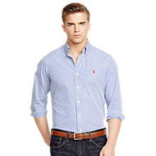 Buy Polo Ralph Lauren Slim Fit Stripe Shirt, Blue/White Online at johnlewis.com