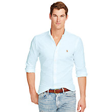 Buy Polo Ralph Lauren Slim Sport Shirt, Aegean Blue Online at johnlewis.com