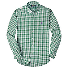 Buy Polo Ralph Lauren Slim Button Down Shirt, Green/White Online at johnlewis.com