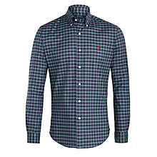 Buy Polo Ralph Lauren Check Slim Fit Shirt, Artichoke Online at johnlewis.com