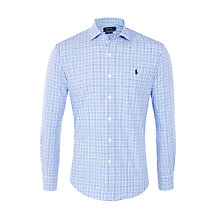Buy Polo Ralph Lauren Slim-Fit Checked Poplin Shirt, Club Royal Online at johnlewis.com