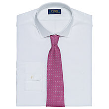 Buy Polo Ralph Lauren Slim-Fit Cotton Dobby Shirt, White Online at johnlewis.com