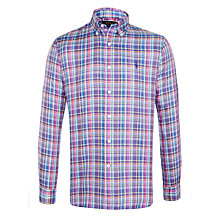 Buy Polo Ralph Lauren Slim Fit Check Long Sleeve Shirt, Slate Blue Online at johnlewis.com
