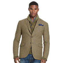 Buy Polo Ralph Lauren Polo Houndstooth Sports Jacket, Olive/Tan Online at johnlewis.com