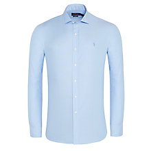Buy Polo Ralph Lauren Estate Slim Fit Cotton Dobby Shirt, Blue Online at johnlewis.com