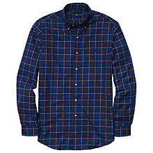 Buy Polo Ralph Lauren Check Slim Fit Shirt, Navy/Cream Online at johnlewis.com