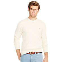 Buy Polo Ralph Lauren Crew Neck Sweatshirt, Antique Cream Online at johnlewis.com