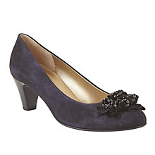 Buy Gabor Aljento Floral Embellished Court Shoes, Navy Suede Online at johnlewis.com