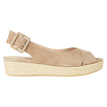 Buy Hobbs Bonnie Open Toe Sling Back Sandals, Fawn Beige Online at johnlewis.com