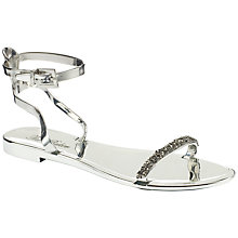 Buy Ted Baker Amorpha Ankle Strap Jelly Sandals, Silver Online at johnlewis.com