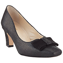 Buy John Lewis Amble Bow Detail Block Heeled Court Online at johnlewis.com